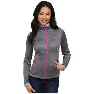 North Face Agave Fleece Zip Up Gray Jacket
